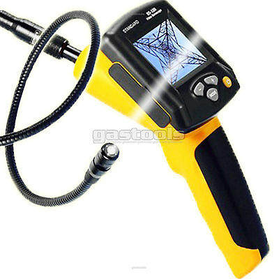 "Video Inspection Snake Camera Borescope 3"" LCD 1M Carry Case Waterproof USB"