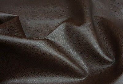 BROWN Ford faux leather upholstery vinyl fabric (by the yard) SHIPPED ROLLED