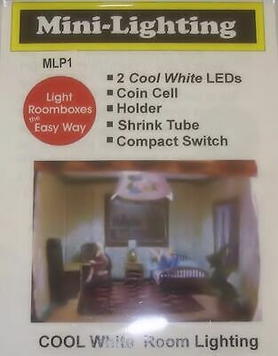 Micro Mini LED Lighting - Cool White, Coin Battery Operated Dollhouse Miniatures
