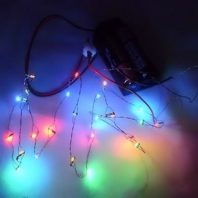 Dollhouse 26 Lighting Color LED Christmas Lights Battery Operated Miniature