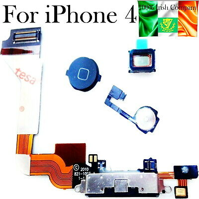 WHITE Charging Port Dock Connector Flex Cable With Mic For iPhone 4S USB CHARGER