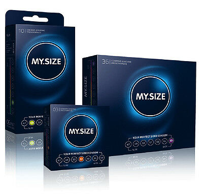 MY.Size Condoms 7 Sizes Transparent Lubricated Electronically Tested CE Approved
