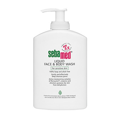 Sebamed Liquid Cleansers & Face Wash Mild Deep Cleansing Soap Free