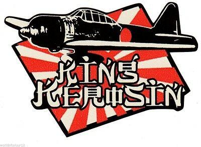 King Kerosin Aufkleber/Sticker/US Car/V8/USA/Youngtimer/Ratte/Hot Rod/Rockabilly