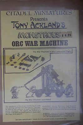 CITADEL TONY ACKLAND's MONSTROUS, ORC WAR MACHINE,BNIB