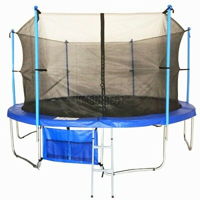 14FT Trampoline with Ladder Net Enclosure Safety Pad Padding Weather Cover 14 FT