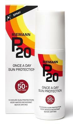 Riemann P20 SPF 50+ 100ml Once A Day Sun Protection Spray Very High