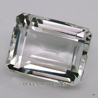 NATURAL WHITE SAPPHIRE 7x5 MM EMERALD CUT MATCHED PAIR