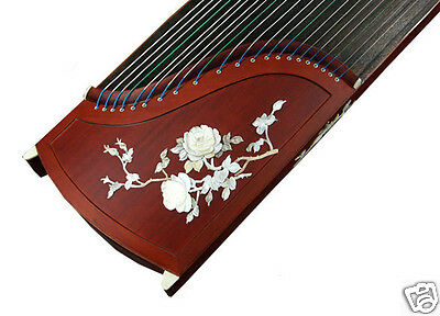 Professional Shell Carved Rosewood Guzheng Instrument Chinese Zither Harp, Koto