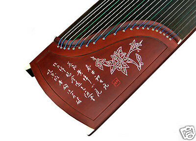 Professional Carved Rosewood Guzheng Instrument Chinese Zither Harp Gu Zheng