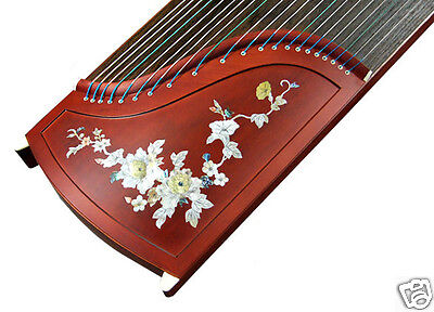 Professional Mica Carved Rosewood Guzheng Instrument Chinese Zither Harp, Koto