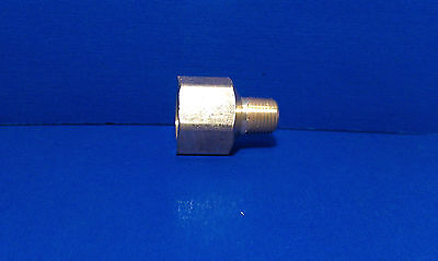 Solid Brass Hex Adapter Fitting Reducer 1/8 Male 1/4 Female NPT Air Fuel Water