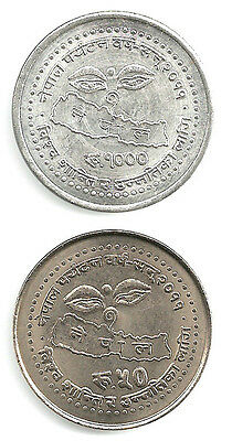 Nepal Tourism Year 2011 Rs 1000 Silver  Commemorative 1 coin out of  2 UNC