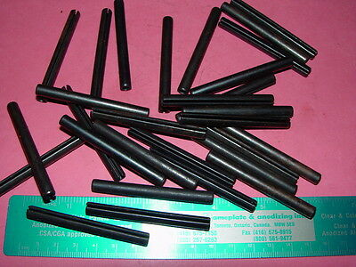 Roll/Spring Pins Carbon Steel 1/4 x 2-1/2 - Lot of 5 pcs
