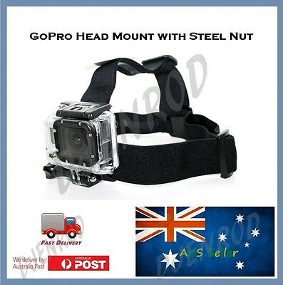 GoPro Head Mount for Go Pro Hero 5 4, 3+, 3, 2 & ALL SESSION Cemeras