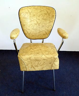 A Good  Vintage Retro chrome framed and plastic upholstered waiting room chair