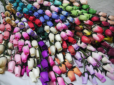 200 Wooden Roses Wholesale Job Lot Car Boot Stock Mixed Box Business Opportunity