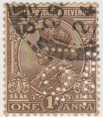 Stamp(I65) 1932 INDIA 1a brown GV ow234
