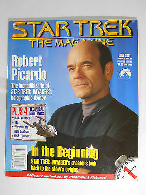 STAR TREK THE MAGAZINE #3 July 2001 DS9 TNG TOS Robert Picardo Voyager Doctor