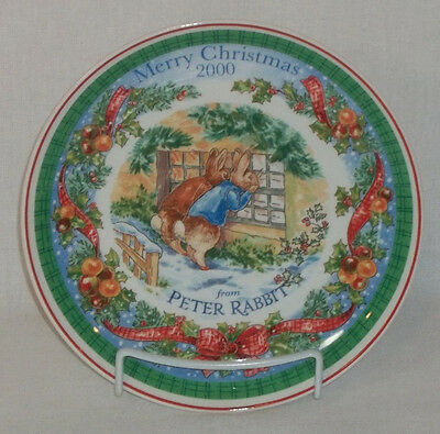 2000 Collectible Wedgwood Christmas Plate - PETER RABBIT