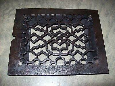 "8"" x 6"" insert heating grate geometrical design no fins  (G 131)"
