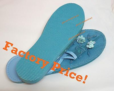 2/4/6/12 Prs BLUE NEW Women Chinese Mesh Slipper Sandal Party Home 6,7,8,9,10,11