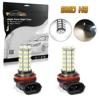 2x 68 SMD Car White LED H8 H11 Fog Day Driving Bulb Light Lamp 12V US fast ship