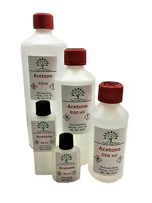 99.5% Pure Acetone, Various Sizes, FREE UK Shipping, Best Value for Acetone