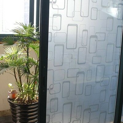 92cm x 3m Home Decorative Privacy Frosted Frosting Removable Window Glass Film