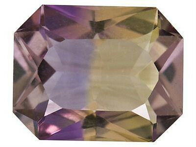 IF ~ 3.00 CT ~ Ametrine Purple & Yellow ~ Octagon ~  Natural Gemstone