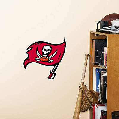 """Tampa Bay Buccaneers 10"""" x 11.5"""" NFL Logo Teammate Fathead Poster Wall Graphics"""