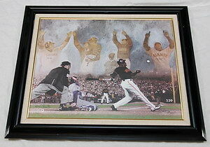Barry Bonds Auto & Insc. Giclee Artist Proof Le 12/73