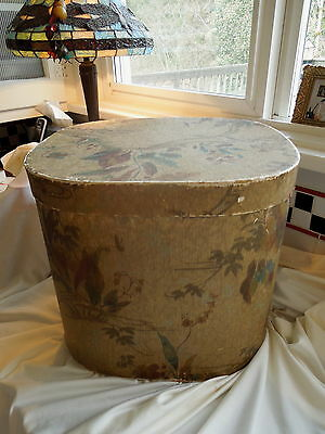 REDUCED !!!!!      ANTIQUE BAND BOX -  HAT BOX -   #196