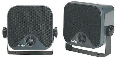 """AXIS AX442 - 4"""" (100mm) MARINE OUTDOOR SURFACE MOUNTt BOX SPEAKERS BOAT STEREO"""