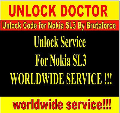 sl3 unlock by Local Brute Force calculation for Nokia SL3 unlock code FAST