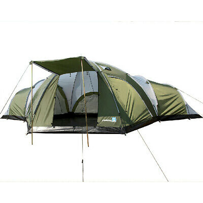 Genuine Peaktop Large 3+1 Room Group Family Camping Tent 8-10 Man Full cover