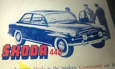 1959 SKODA 440 Australian Sales Advert