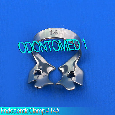 6 Endodontic Rubber Dam Clamp # 14A Surgical Dental Instruments