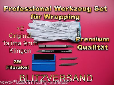 Rakel mit Filzkante , Folien verklebe Set, Wrapping, Made in Japan Bester SET !