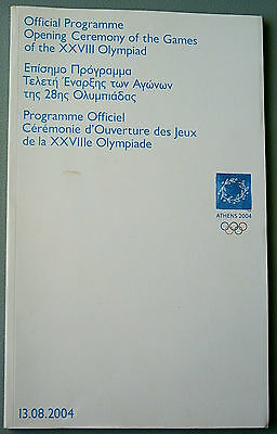 Orig.PRG     XXVIII. Olympic Games ATHEN 2004 - OPENING CEREMONY  !!   VERY RARE