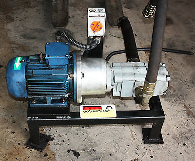 RXM 3 Phase Motor & Hydraulic Gear Pump 3kw MB Butterfield MBB2898