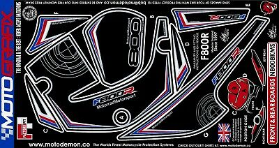 BMW F800R 2009 - 2014 Motorcycle Front & Rear Fairing Gel Paint Protector Decal