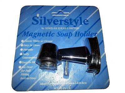Silverstyle Chrome Plated Easy Clean Bathroom Magnetic Soap Holder - Brand New