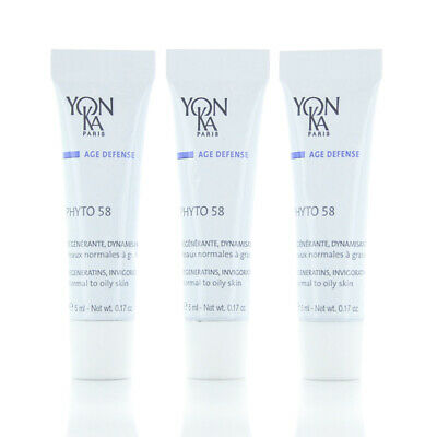 Yonka Cream/Creme 15 Problem Skin Treatment SAMPLES 3 TUBES 5ml/0.17oz NEW TOULON Vitamin C Serum with Hyaluronic Acid for Face Reduce Fine Lines & Sun Spots Natural and Organic