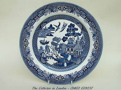 Churchill Blue Willow Pattern Large Size Dinner Plates 26cm Brand New & Unused