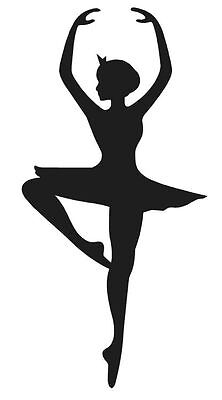 BALLERINA SILHOUETTE DANCER VINYL DECAL STICKER GIRL BALLET CHOOSE COLOR