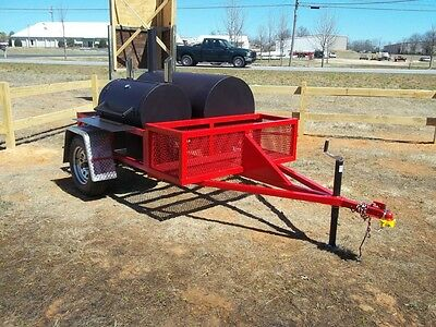 "Competetion BBQ Trailer Smoker - ""The Mini Beast"" - CUSTOM PITS- - - - (GEORGIA)"