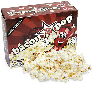 Bacon Popcorn Baconpop J&d Bacon Flavor Microwave Flavored Pop Corn Vegetarian