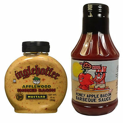 Bacon Mustard & Honey Apple Bacon Bbq Barbecue Sauce Combo Pack (2Pc Gift Set)