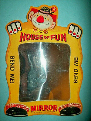 "Vintage 1960 Dairy Queen ""House of Fun"" Flexible Mirror Promotional Item!"